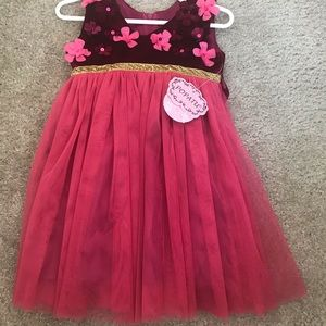 Popatu red and pink 12m dress, new with tags!